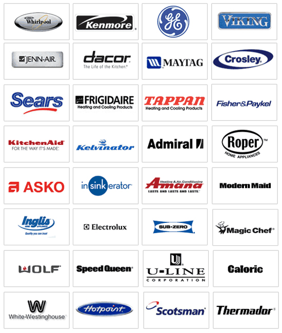 major appliance brands
